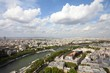 Paris, France - view with Seine River