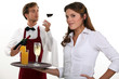 Wine waiter and waitress
