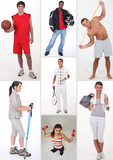Collage of athletic people