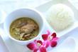 Thai food, green curry,