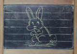 Easter Rabbit on blackboard