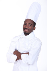 Cook smiling