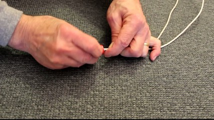 installing a wire nut