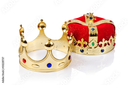 King crown isolated on white