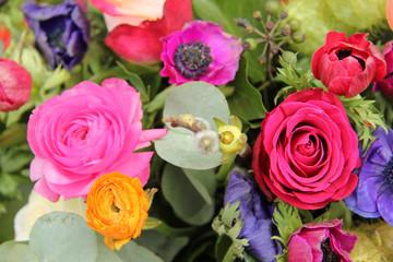 Wildflower arrangement in bright colors