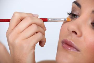 Women with mascara