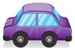 A violet toy car