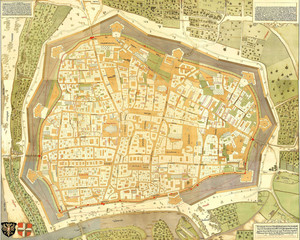 Vienna old map.Capital of Austria