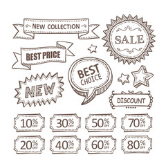 Retro discount labels