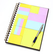 notepad in note book with pen