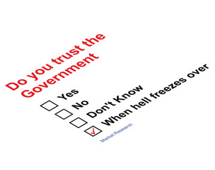 Trust Government Market research questionnaire