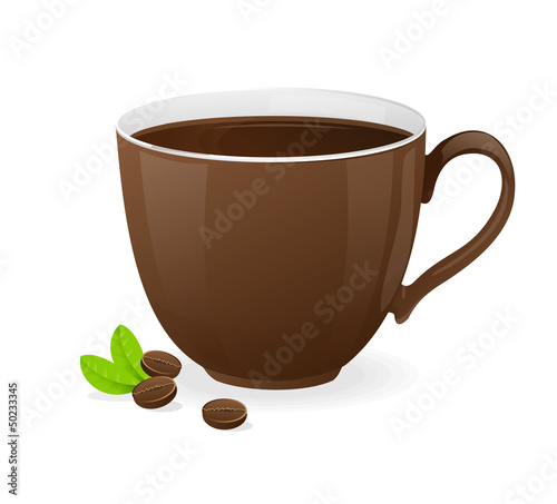 Vector brown cup of coffee
