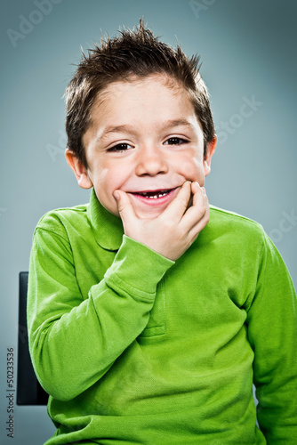 Adorable Kid with Funny Expression