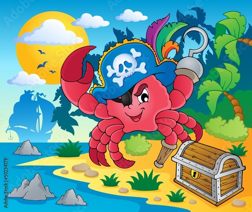 Pirate crab theme image 2