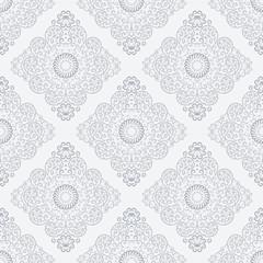Silver vintage seamless wallpaper