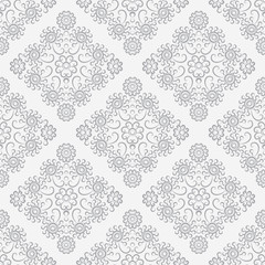 Silver vintage seamless wallpaper