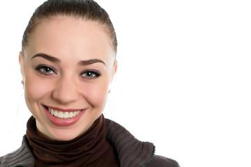 Nice smiling brunette