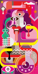 Abstract Art - vector illustration