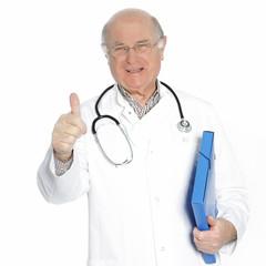 Confident senior doctor or consultant