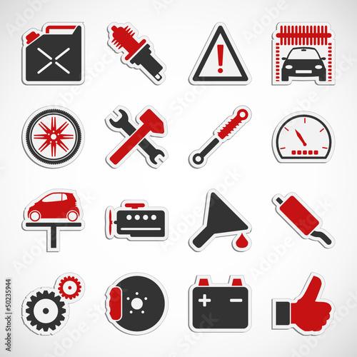 Auto - Werkstatt - Sticker (II)