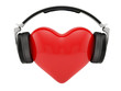 Heart with earphones