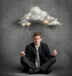 Businessman under stress concept