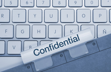 Confidential keyboard and folder
