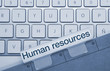 Human resources keyboard and folder