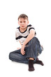boy sitting on the floor