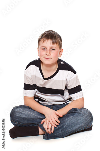 boy sitting on the floor