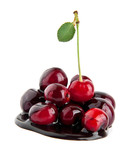 cherries in a chocolate