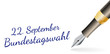 22. September Bundestagswahl