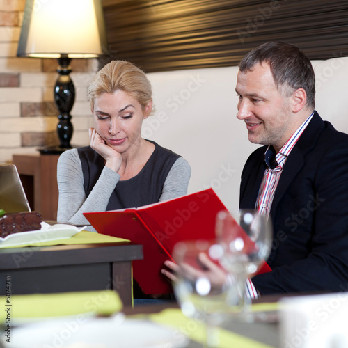Working colleagues - a man and a woman