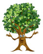 Tree character cartoon