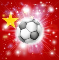 China soccer flag