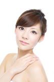 Fototapety Beautiful asian woman on white background