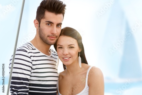 Summer portrait of attractive couple