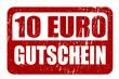 10 EURO GUTSCHEIN, Vektor Stempel
