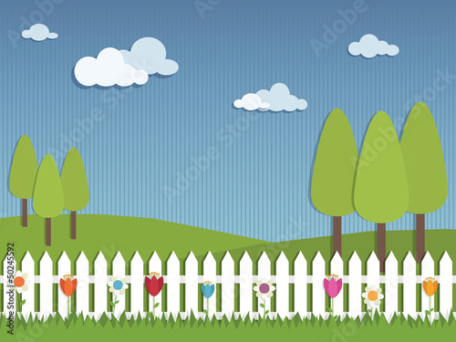 picket fence landscape