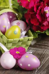 Osterkörbchen mit Eiern - Ostern - easter basket