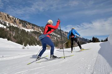 Langlauf Paar Skating