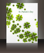 Brochure beautiful reflection saint patricks day background