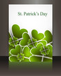 Abstract beautiful saint patricks day brochure vector