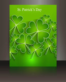 Brochure beautiful bright green reflection saint patricks day ba