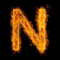 Flaming Letter N