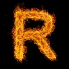 Flaming Letter R
