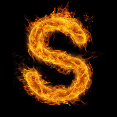 Flaming Letter S