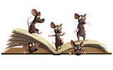 Mice reading book