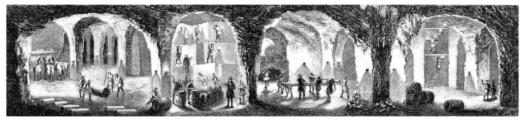 Wieliczka (Poland) : Salt Mines - 19th century