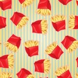 Fast food seamless pattern background.